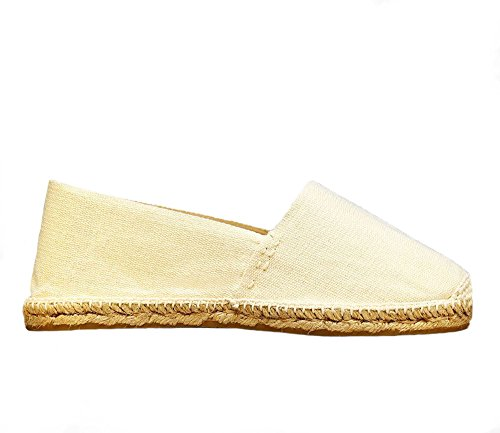 Espadrilles Men's Women's Spain Hand Made Ivory in DIEGOS 1ABOFnn