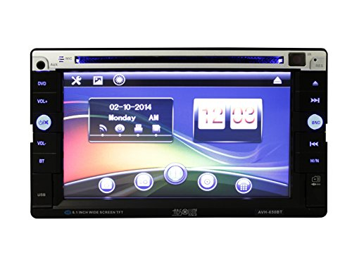 Absolute USA Digital Video Player/Vcd/Mpge-4/MP3/Cd/CD-R/CD-RW/ Compatible Radio Scanner, Black (AVH650BT) - Absolute Compact