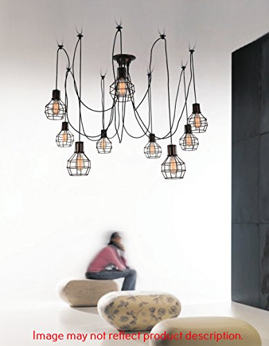 Black Crystal Pendant Nine Light Chandelier in US - 9