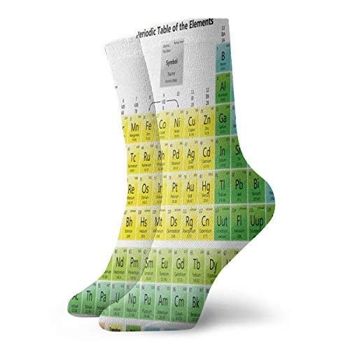 Crew Socks Printable Periodic Tables For Chemistry Personalized Unisex Casual Stocking Holiday Sock Clearance For ()