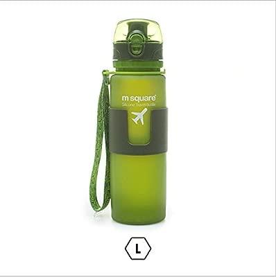 Botella de agua plegable - una tapa táctil, aislante, sin ...