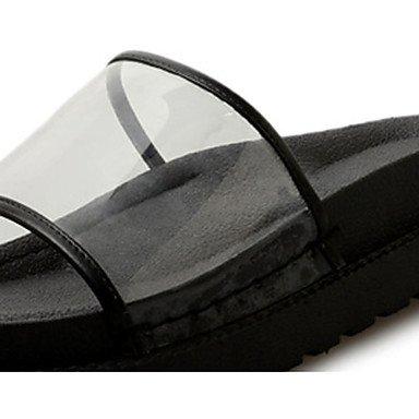 LvYuan Mujer Sandalias PU Primavera Verano Tacón Plano Negro 2'5 - 4'5 cms Black