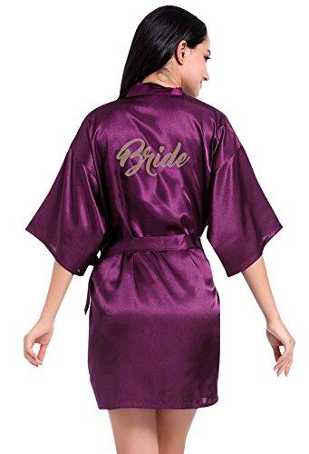(FEOYA Womens Bride Dressing Gown Loungewear Lingerie for Wedding Party Size S -)