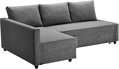 (The Light Gray Friheten Thick Cotton Sofa Cover Replacement is Custom Made for IKEA Friheten Sofa Bed, Or Corner, Or Sectional Slipcover. Sofa Cover Only! (Longer Right Arm))