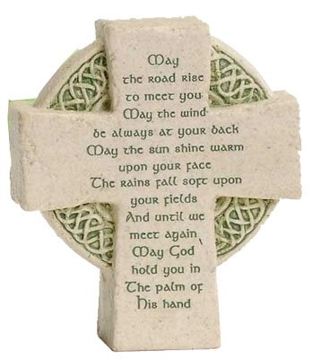 Irish Blessing Cross (Roman Petite Standing Cross Celtic Irish Blessing)