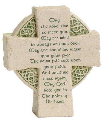Roman Petite Standing Cross Celtic Irish Blessing Irish Home Blessing Cross