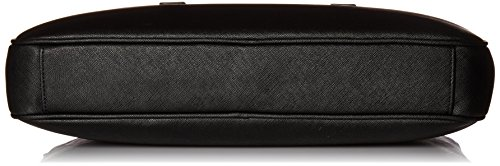 Armani Exchange Men's Saffiano Embossed Briefcase, Black by A|X Armani Exchange (Image #4)