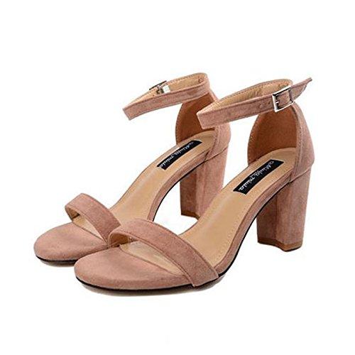 ante mujer Apricot UE europeos color de zapatos de de RUGAI verano tacones moda de Sandalias Rtpqn1nv