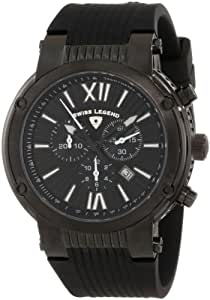 Swiss Legend Men's 10006-BB-01 Legato Cirque Chronograph Black Textured Dial Watch