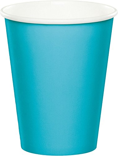Creative Converting Paper Hot/Cold Cups, 9-Ounce., Bermuda Blue Color, Package Of 24,   (Pack of 5)
