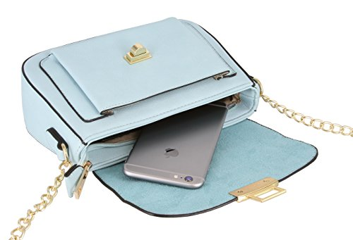 Alyssa Large Blue Women Light Purse Bag Body Handbag Cross Collection Flap raB7Tqrw