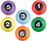 Sportime Numbered Step-N-Stones, 2-5/8 x 5-1/4 Inches, Set of 6