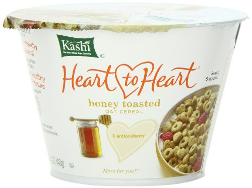 Kashi Heart to Heart Honey Toasted Oat Cereal, 1.4-Ounce Cups (Pack of 12) (Kashi Fiber Cereal Cereal High)
