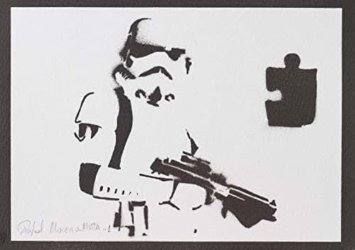 Póster Stormtrooper STAR WARS Soldado Imperial Grafiti Hecho A Mano - Handmade Street Art - Artwork