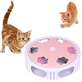 ASKCUT Interactive Cat Toy, Electric Feather Teaser Pet Toy for Exercise Chaser Training Cat Hunting Instincts and Sense Maglev Kitten Toy