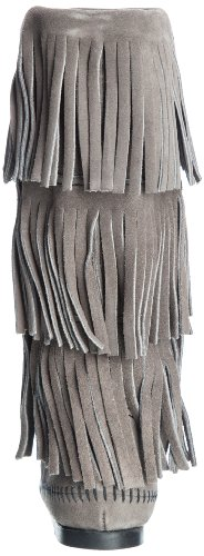 Grey Layer Women's Fringe Minnetonka Boot Three wq08CvxX