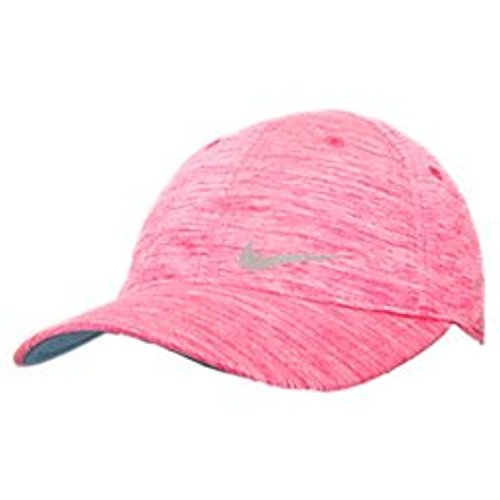 Nike Girls Only Tennis Running Cap Hat with Built-in Pony Tail Holder Hyper Pink Heather, 4-6x