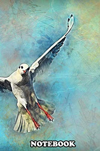 Notebook: Gull Bird , Journal for Writing, College Ruled Size 6