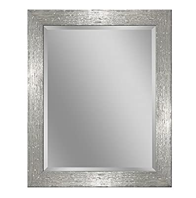 Headwest 8018 Driftwood Wall Mirror, Chrome and White