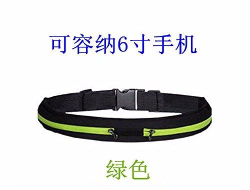 feishang bz Unsichtbare Mobile Brieftasche Gelegenheits Sport Taschen grüne einheitlichen handtasche