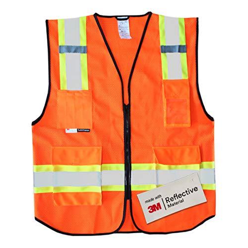 Flame Pocket - Salzmann 3M Multi Pocket Safety Vest, Highly Breathable Mesh Vest, XL+