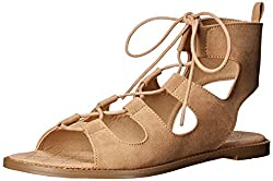 Chinese Laundry Women's Guess Who Micro S Gladiator Sandal, Cocoa, 6 M US