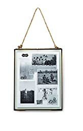Mud Pie Hanging Glass Frame, 8 by 10-Inch, Gold