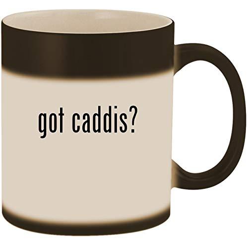 got caddis? - 11oz Ceramic Color Changing Heat Sensitive Coffee Mug Cup, Matte Black