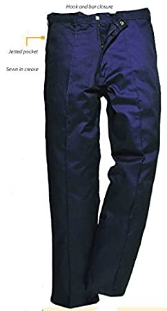Navy Portwest U2885NAR28 Regular Fit Preston Pants Size 28