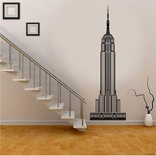 LSFHB Modern Home Decor New York City Empire State Building Wall Decal Vinyl Living Room Decoration Stickers Removable Wallpaper 21X66Cm -