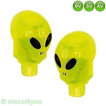 5 x 2 para bicicleta válvula Alien iluminada para AV/SV/DV válvula de