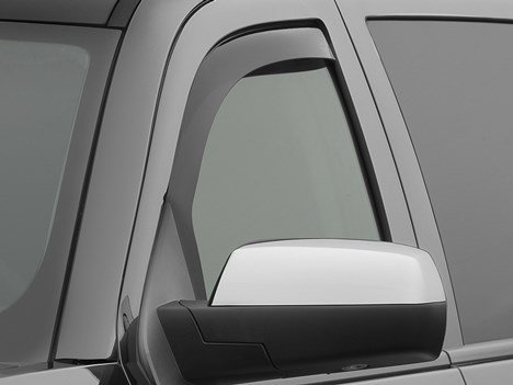 WeatherTech 80740 Dark Tint Side Window Deflector (Window Tint Silverado 2014)