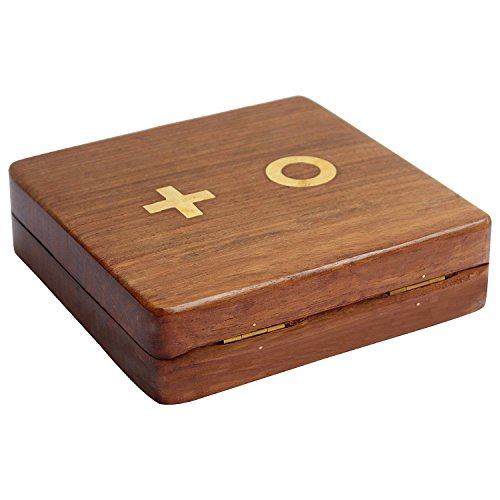 ITOS365 Wooden Tic Tac Toe/Noughts and Crosses Game Unique Handmade Quality Wood Family Board Games