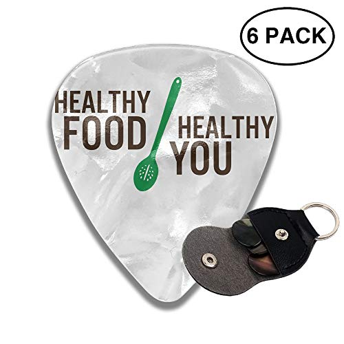 Karen Felix Classic Guitar Pick (6 Packs) Healthy Food and Healthy You Celluloid Guitar Picks Plectrums for Guitar Bass ()
