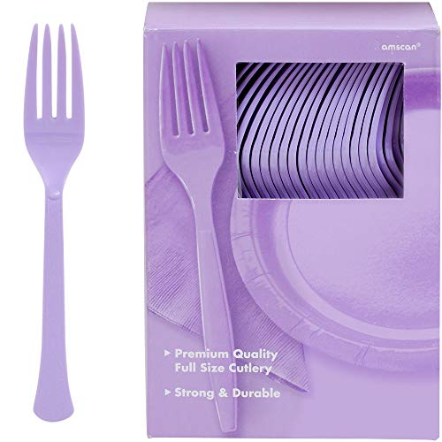 Big Party Pack Plastic Forks | Lavender | 100 ct. | Party Supply