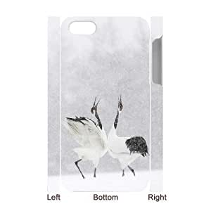 3D Bumper Plastic Case Of Red crowned Crane customized case For Iphone 4/4s by supermalls