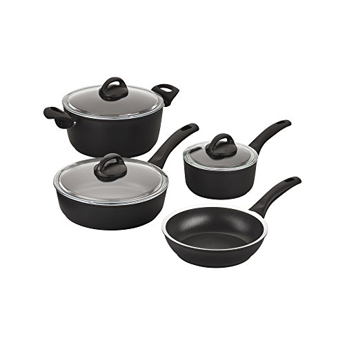 Ballarini 75001-640 Como Forged Aluminum Nonstick Cookware Set, Black