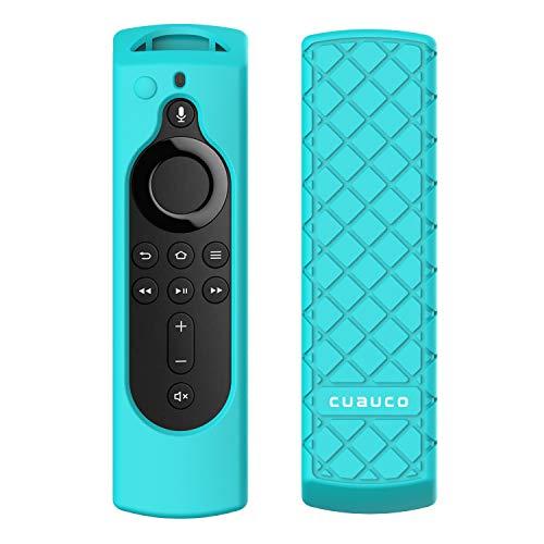 Cuauco Protective Silicone Case for Amazon Fire TV Stick 4K Remote Control, [Anti Slip] Shock Proof Remote Controller Case cover shin (Model Year 2018,2019) (Mint Green)