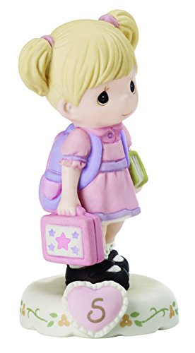 Precious Moments 152011 Growing In Grace, Age 5 Girl Bisque Porcelain Figurine  Blonde