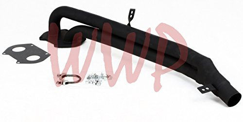 Black Coated Performance Exhaust Header System Kit 79-85 MAZDA RX-7 RX7 SA/FB 1.2L/12A