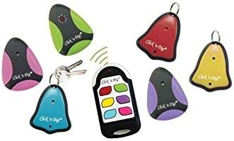 Click 'n Dig Model F6 Key Finder. 6 Receivers. Wireless RF Remote Item, Wallet Locator.