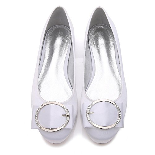 Elegant high shoes Damenhochzeitsschuhe Q-5049-31 Ball Close Toe Zehe Metall Stretch Satin Hochzeit Nach Maß Große Schuhe Purple
