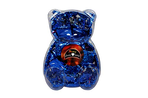 My Chocolate Special Sweet Pack Teddy Bear Chocolate Valentine Days Gift Pack with Creamy Dark & Milk Chocolate Best Gift for Birthday & Love one ( 260gm) (Blue_Teddy)