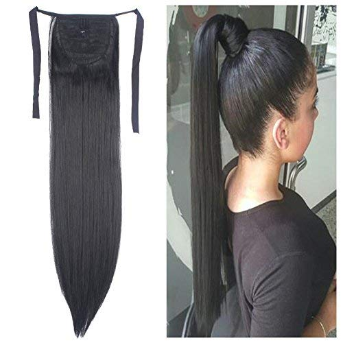 Hair Extensions Ponytail One Piece Tie Up Ponytail Clip in Hair Extensions Hairpiece Binding Pony Tail Extension for Girl Lady Woman]()