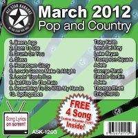All Star Karaoke March 2012 Pop and Country Hits (ASK-1203) by Toby Keith, Lana Del Rey, Luke Bryan, Thompson Square, Adele, George Strait, Eas (2012) Audio CD