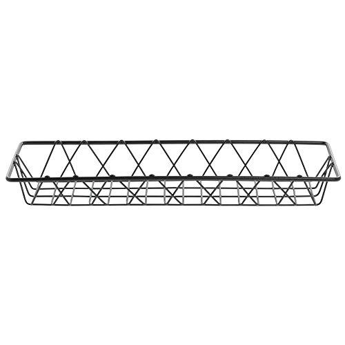 HUBERT Commercial Wire Display Basket Pastry Tray Bakery Basket Rectangular Nickel Powder-Coated Steel - 18''L x 6''W x 2''H by Hubert