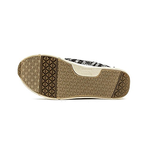 Toms Womens Del Rey Sneaker Nero Tessuto Tribale