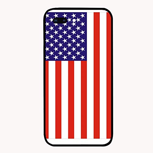 iPhone 7 Plus Case Slim-Fit Anti-Scratch Shock Proof Print PU Case for iPhone 7 Plus(5.5 inch) - Clipart American Flag]()
