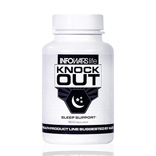 Infowars Life - Knockout Sleep Support (30 Capsules) - Natural Sleep Aid with Melatonin, Valerian, Chamomile & More to Fall Asleep Faster & Stay Asleep (Best Sleeping Pills For Plane)