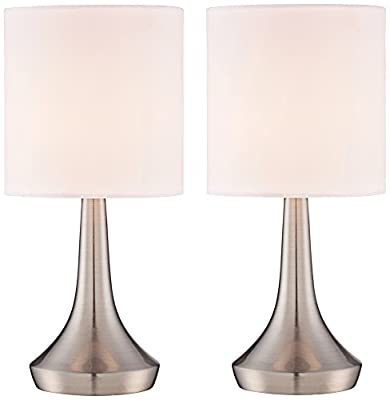 "Zofia 13""H Metal Touch Accent Table Lamp Set of 2"